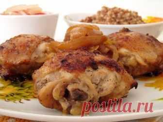Как приготовить куриные бедра, жареные со вкусом шашлыка - рецепт, ингредиенты и фотографии!..