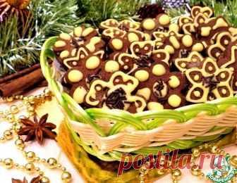Шоколадно-ореховое печенье с пряностями – кулинарный рецепт