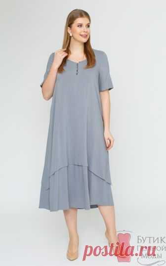 Платье большого размера Джоли-2 Серый