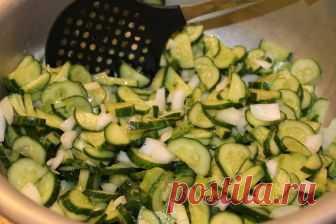 Огуречный салат на зиму без