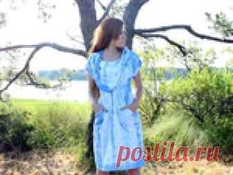 Трикотажное платье из двух маек