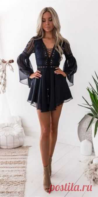 Cute Bell Sleeves Short Homecoming Dresses Little Black