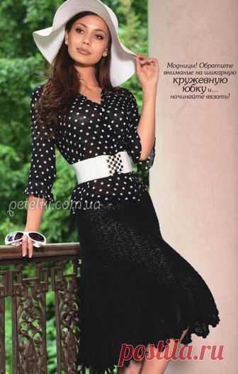 Модная юбка крючком. Описание вязания, схемы
