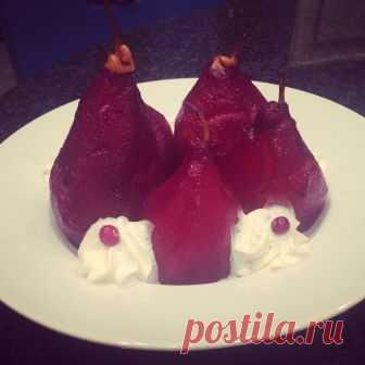 Зимний десерт, пьяная груша