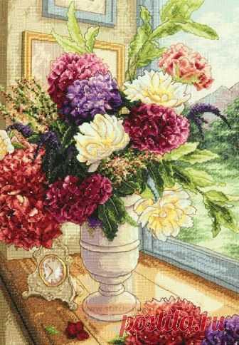 Summer Bouquet. Схема вышивки крестиком — Дом крестика