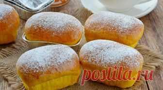 Pumpkin rolls on yeast: recipe of preparation
