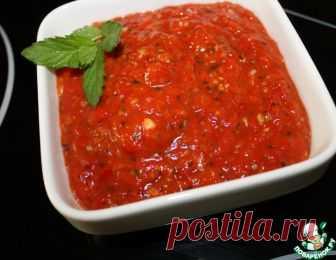 Закуска из запеченных помидоров и перцев - кулинарный рецепт