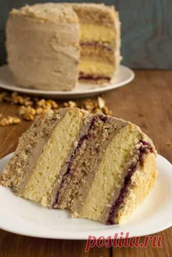 Ореховый торт с халвой - безумный шляпник