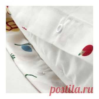 РОЗЕНФИББЛА | Пододеяльник и 1 наволочка |  Доставка товаров из IKEA | VAMDODOMA Чистый хлопок – мягкий и приятный на ощупь материал.Пододеяльник с потайной застежкой – одеяло не выбивается.