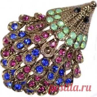 Красивая брошь со стразами арт.1705248 купить в stilnayakoshka.ru