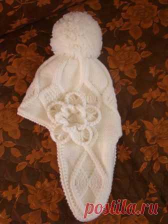 Вязание спицами для детей Шапочка