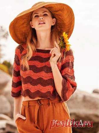 Пуловер реглан с широкими рукавами