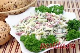 Салат «На скорую руку» Салат «На скорую руку». Название говорит само за себя. Очень вкусный салат и готовится очень быстро. Можно приготовить к любому столу.