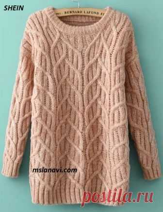 Вязаное платье-свитер | Вяжем с Лана Ви