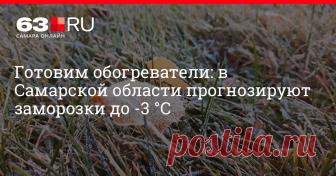 Готовим обогреватели: в Самарской области прогнозируют заморозки до -3 °С Ночами на территории 63-го региона значительно похолодает.