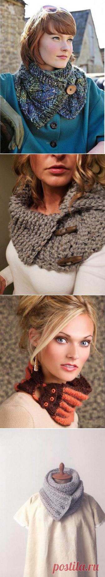 La bufanda sobre los botones (40 fotos): sheegreyka con el cierre sobre los botones y corto, como llevar