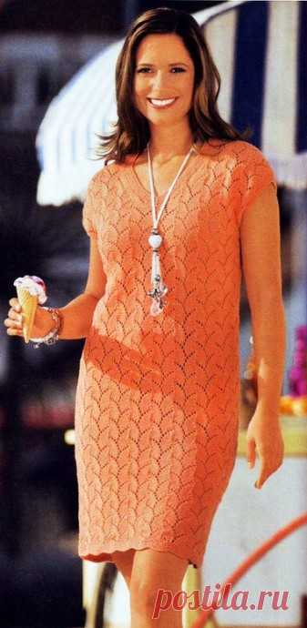 Вяжем элегантное платье из категории Интересные идеи – Вязаные идеи, идеи для вязания