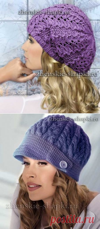 модные вязаные шапки 2016 2017 фото модных женских шапок для зимы