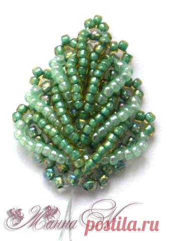 We spin volume leaves   biser.info - all about beads and beaded creativity