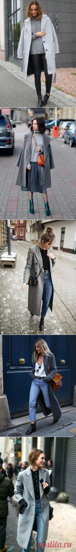 Образы с серым пальто — Модно / Nemodno