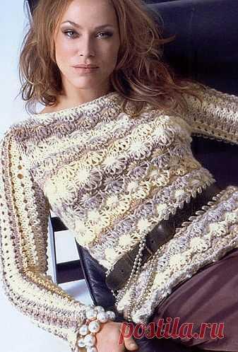 Ажурный джемпер спицами / Вязание для женщин спицами. Схемы / PassionForum - мастер-классы по рукоделию