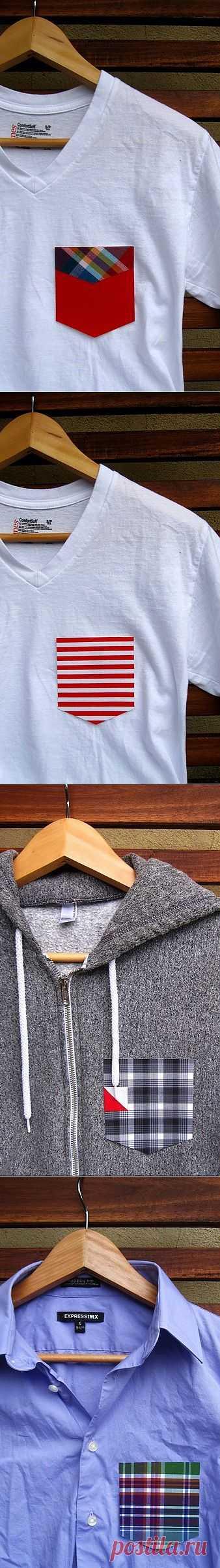 Сменные карманы (трафик) / Футболки DIY / Модный сайт о стильной переделке одежды и интерьера