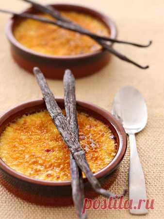 """La receta """"Крема-каталана"""" y \"""