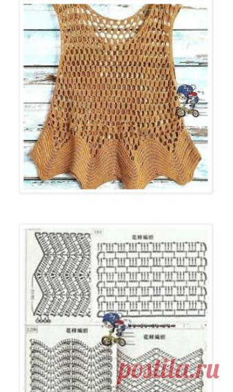 crochelinhasagulhas: Regata dourada em crochê