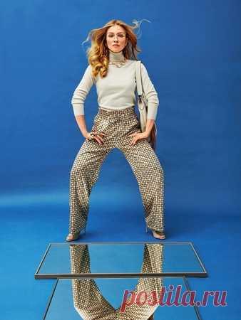Выкройка брюк на широком эластичном поясе - выкройка № 106 A из журнала 8/2018 Burda – выкройки брюк на Burdastyle.ru