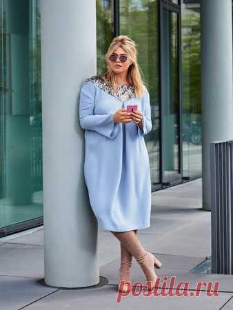 76cb3428494062f Платье на кокетке - выкройка № 125 из журнала 9/2017 Burda – выкройки  платьев
