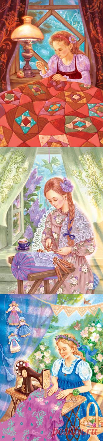 Мастерицы.Иллюстратор Таня Сытая (Tanya Sitaya)