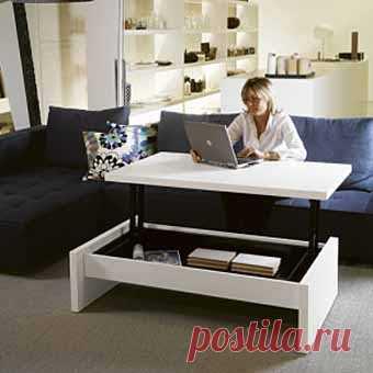 стол-трансформер (можно - рабочий, можно - журнальный)