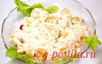Салат сибирский / Куриные салаты / TVCook: пошаговые рецепты c фото