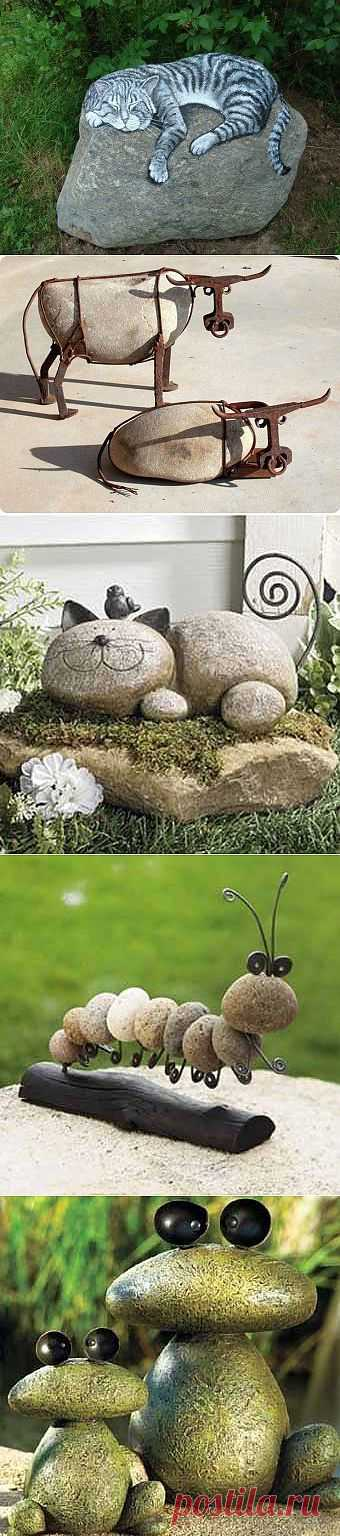 необычный дизайн из камней.