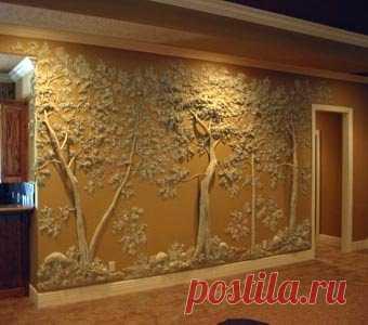 La decoración de las paredes, la casa