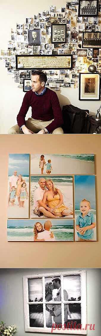 14 классных идей, куда повесить свои семейные фотографии
