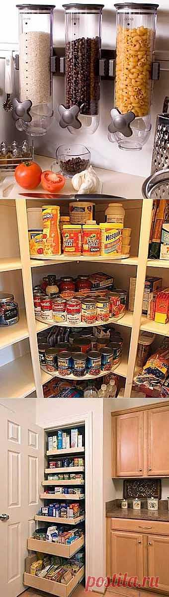 Наводим порядок на кухне: 14 идей для хранения продуктов.