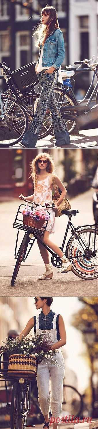 """""""Девушки на велосипедах"""" Free People 2013 / Лукбуки / Модный сайт о стильной переделке одежды и интерьера"""