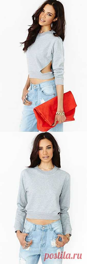 Кофта с прорезью... / Прорези / Модный сайт о стильной переделке одежды и интерьера
