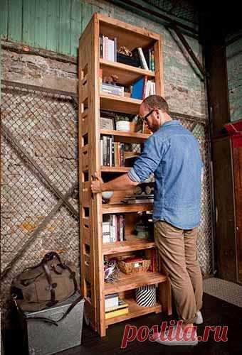 лестница-стремянка с полками