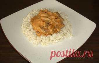 Бефстроганов из индейки / Блюда из индейки / TVCook: пошаговые рецепты с фото