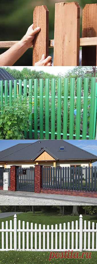 Batten fence: characteristics, choice and installation