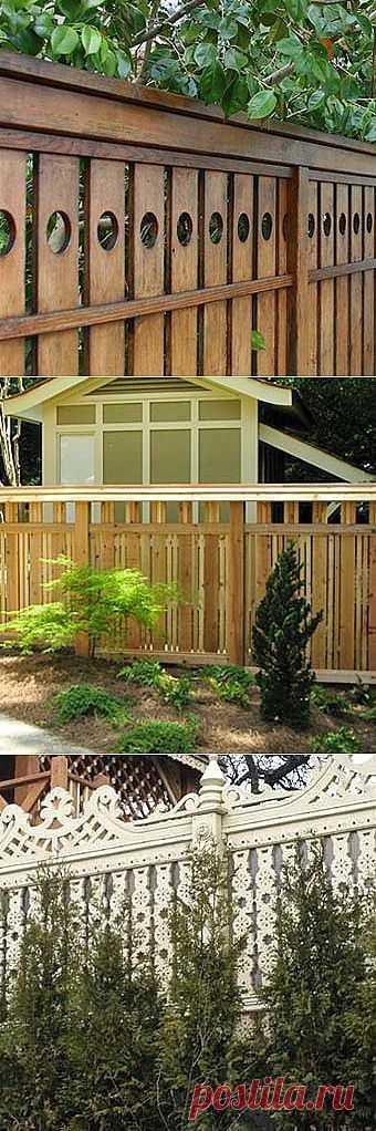 Деревянные заборы для дачи: 14 современных идей - Учимся Делать Все Сами