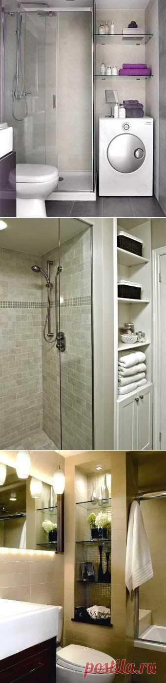 (+1) тема - Способы зрительно увеличить ванную комнату   Школа Ремонта