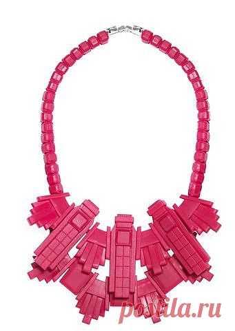Кубическо-пластмассовое колье / Украшения и бижутерия / Модный сайт о стильной переделке одежды и интерьера