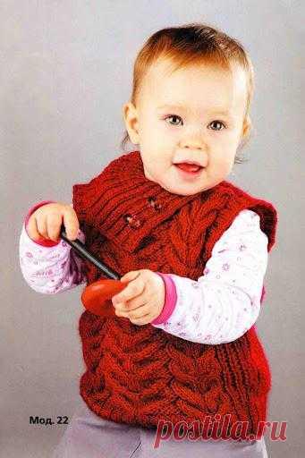 Блоги@Mail.Ru: Жилет с воротником для малышей