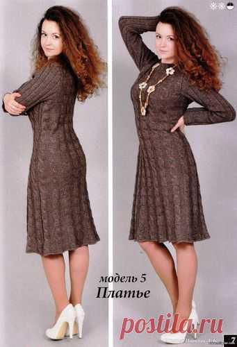вязаное платье спицы 1 - Клуб Модного трикотажа