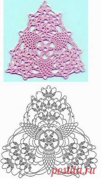 Обновление топа с помощью мотива крючком #crochet #вязание_крючком #топы_крючком #мотивы_крючком