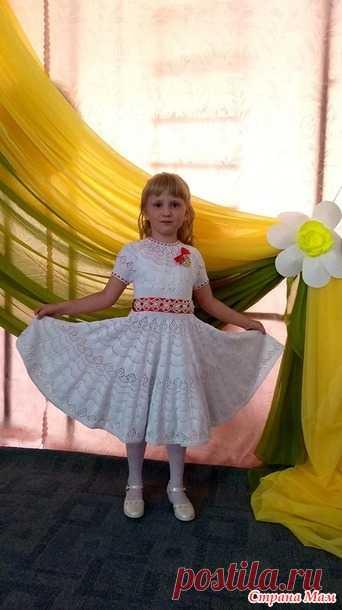 Платье для девочки спицами - Вязание - Страна Мам