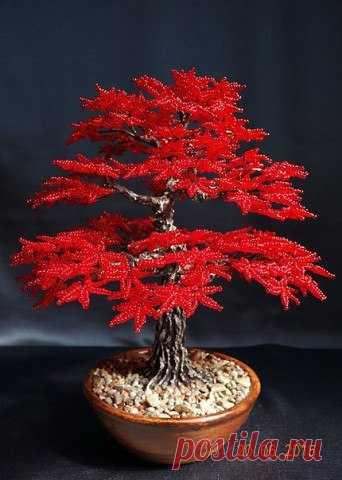 Осеннее дерево из бисера. Мастер-класс (Бисероплетение)   Журнал Вдохновение Рукодельницы